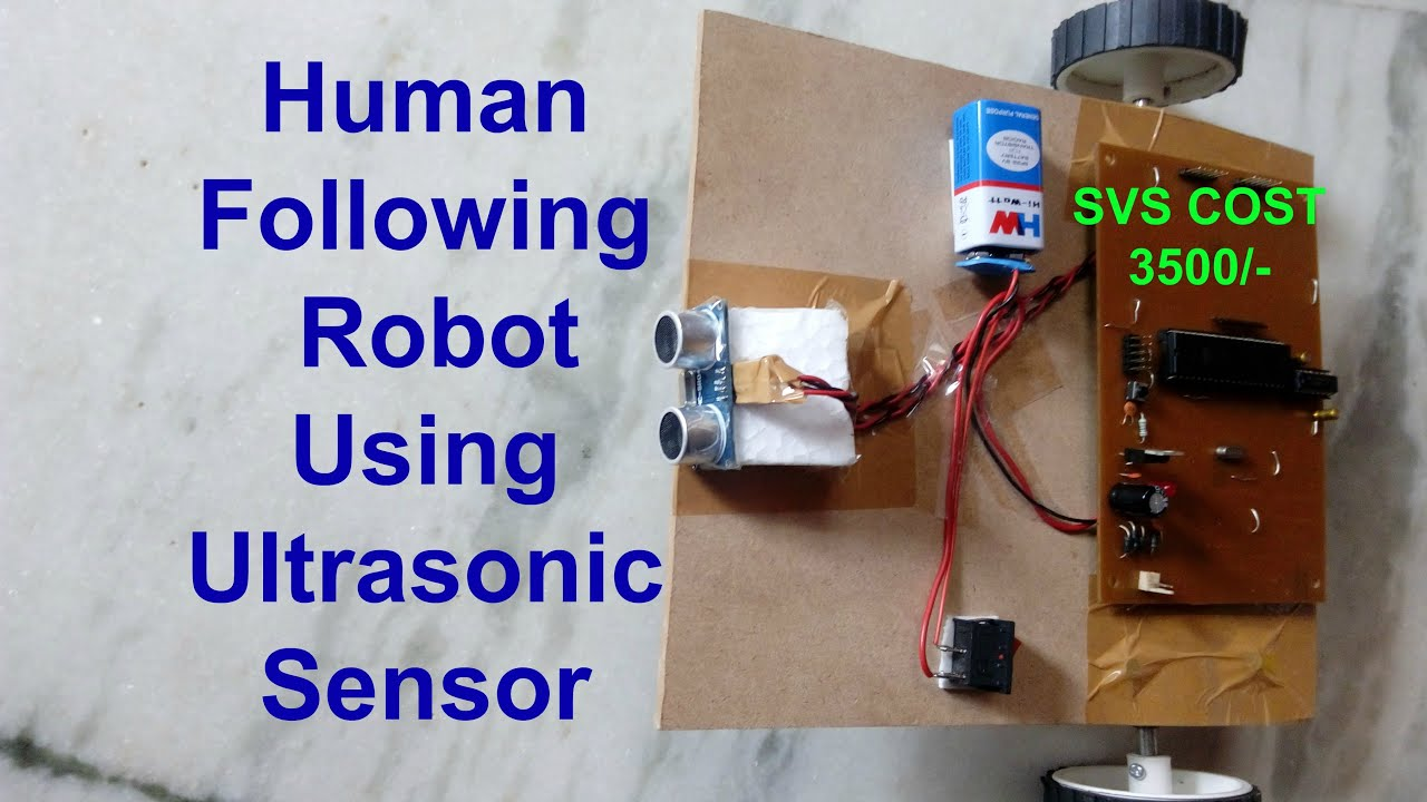 How To Make An Object Following Robot Human Youtube Obstacle Avoiding 8211 Tiny Bot Project