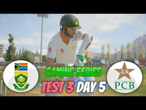 PAKISTAN (PGE) TOUR OF SOUTH AFRICA (GAMING SERIES) - 3RD TEST DAY 5 - DON BRADMAN CRICKET 17