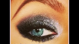 Holiday Look Black & Silver Glitter Smoky Eye Thumbnail