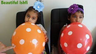 Funny Toddler Learn Colors with Balloon & Finger Family Song | Beautiful Ishfi