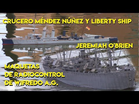 Crucero Méndez Núñez y Liberty Ship escala 1/100 RC