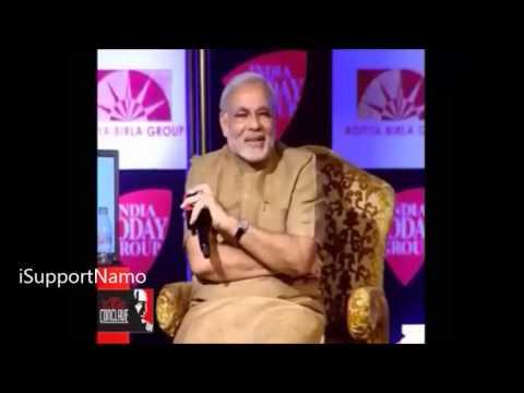A Must Watch Moment Narendra Modi's Amazing Sixer on Punya Prasoon Vajpayee's Googly