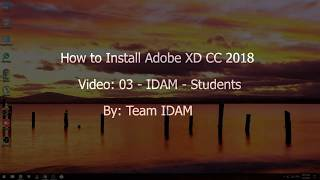 Gambar cover Video 03 How to Install Adobe XD CC 2018 - IDAM