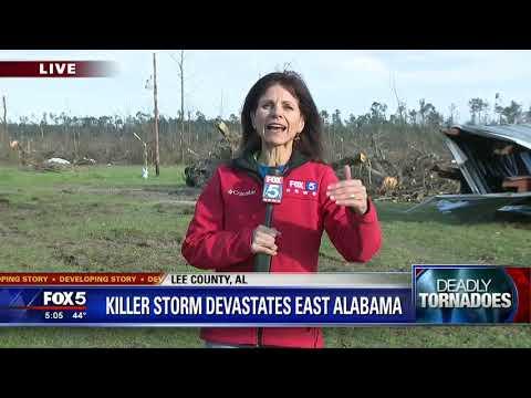 Tornadoes Ravage Alabama And Georgia