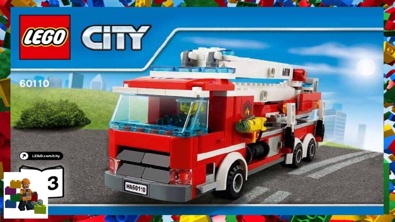 Lego Instructions City Fire 60110 Fire Station Book 3