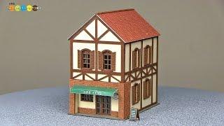 Miniature Paper Craft - Restaurant みにちゅあーとキット レストラン作り