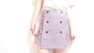 DIY ✂️ Vintage High Waisted Skirt Shorts / Skortㅣmadebyaya