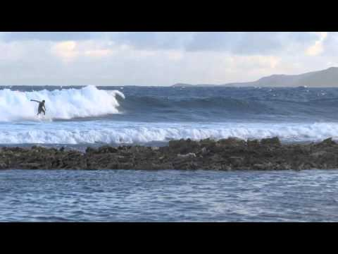 Surfing Anguilla's South Coast