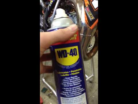 How to clean up a two stroke pipe