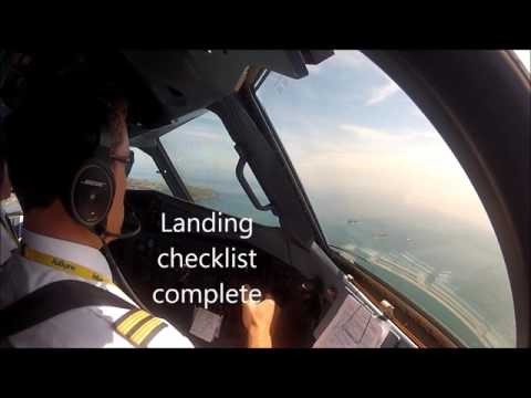 ATR72-500, visual approach into Guernsey