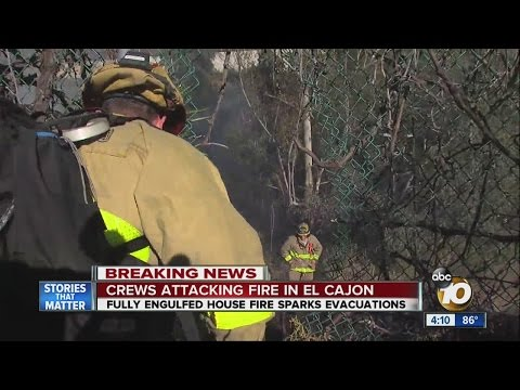 Fire in El Cajon Get Dangerously Close to Homes