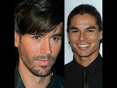 Enrique Iglesias & Julio Iglesias jr -  not twins, but so similar...