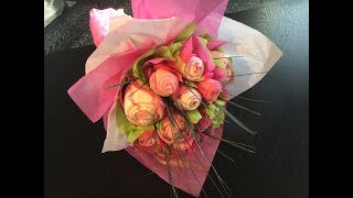 BABY BOUQUET - MADE WITH ONESIES AND FACE CLOTHS