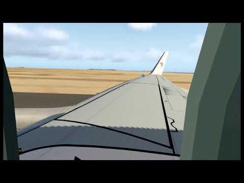 Xplane 11 VR Landing at Borg Al Arab Airport HEBA