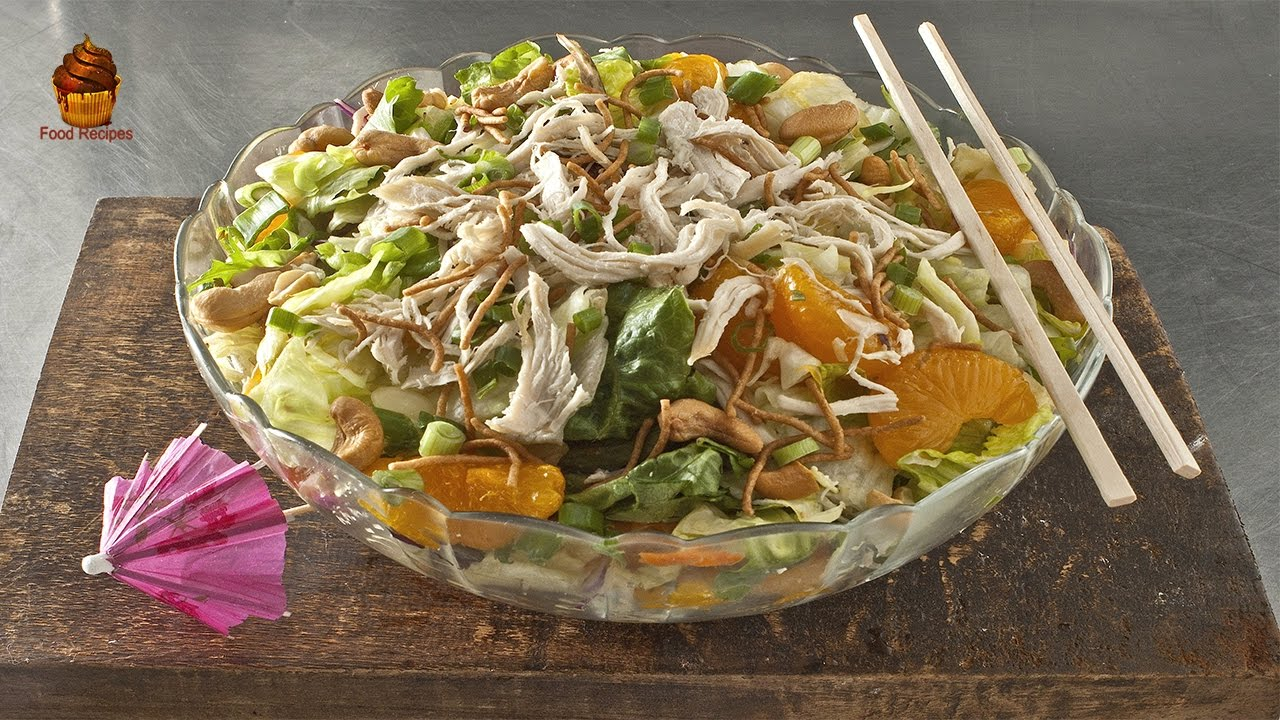Healthy and Best Chinese Chicken Salad Recipe - YouTube
