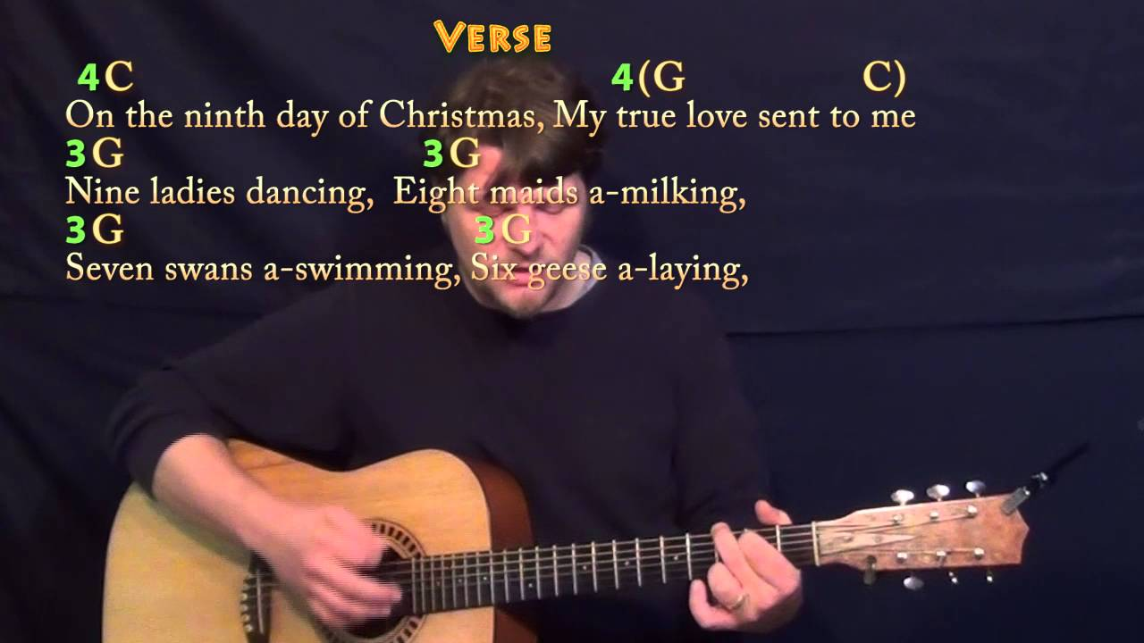 The 12 days of christmas guitar cover lesson in c with chords the 12 days of christmas guitar cover lesson in c with chordslyrics hexwebz Gallery