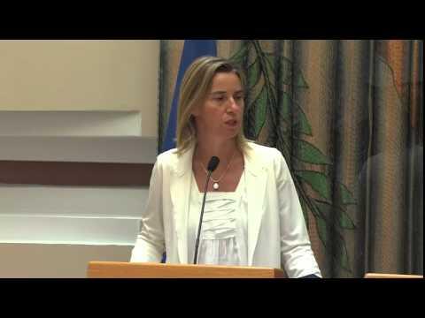 EU High Representative Federica Mogherini: Cyprus visit
