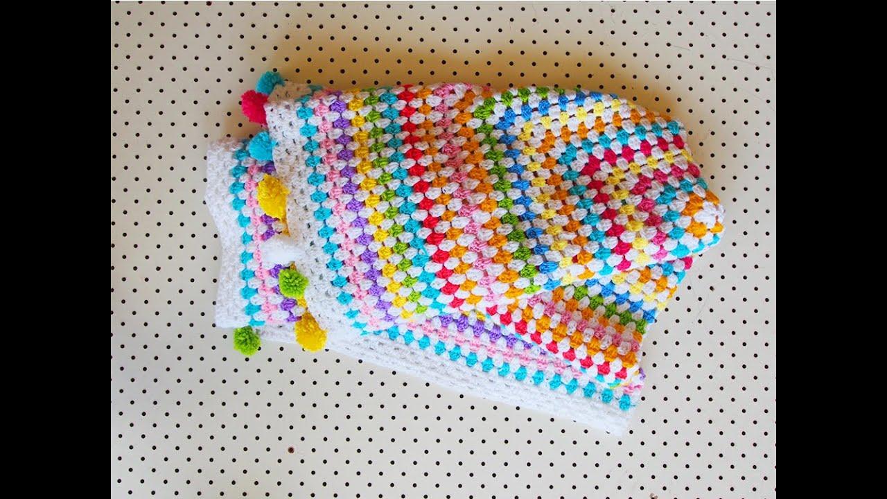 4 Its Oblong Story Crochet A Granny Rectangle Blanket Youtube