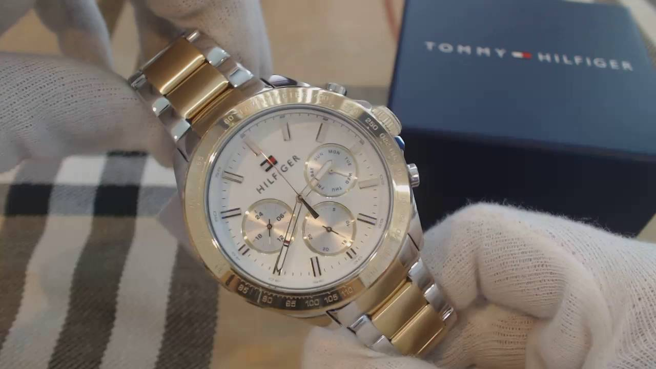 2cd62244 Men's Tommy Hilfiger Hudson Chronograph Watch 1791226 - YouTube