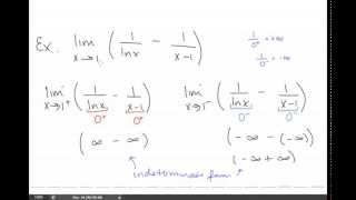 Calc II Lesson 09 Indeterminate Forms and L