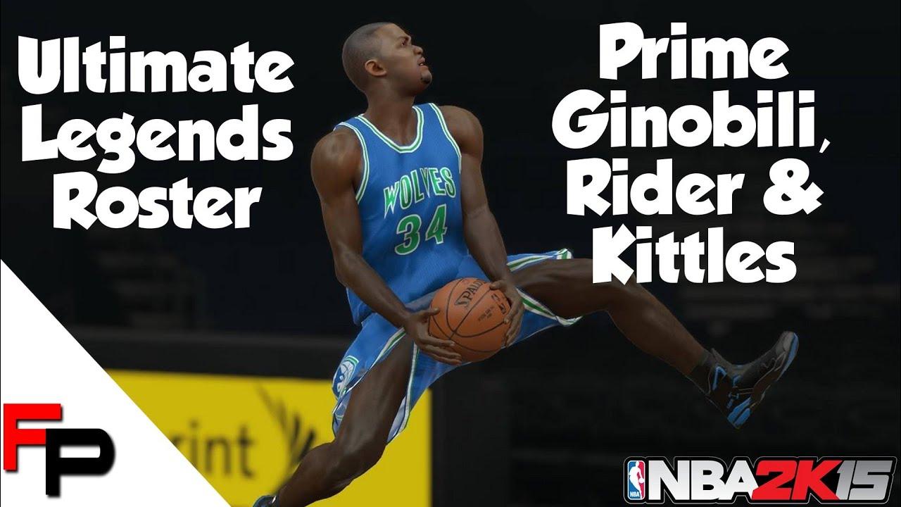 NBA 2K15 Prime Ginobili Isaiah Rider & Kerry Kittles Ultimate