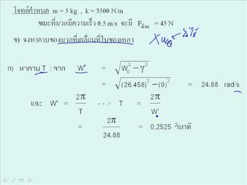 Damp and force oscilation วิชา ฟิสิกส์1 040313005 มหาวิทยาลัยเทคโนโลยีพระจอมเกล้าพระนครเหนือ