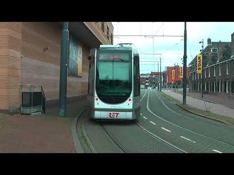 RET Trams in Schiedam