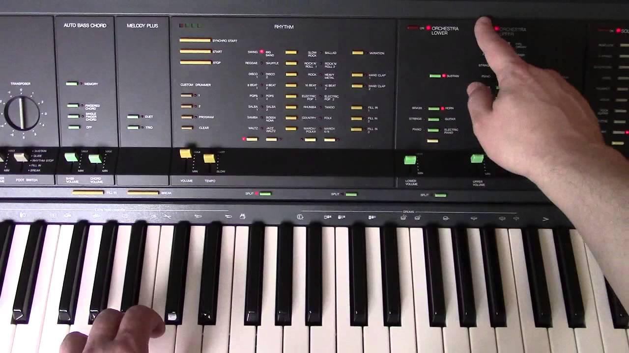 1984 Yamaha PS 6100 Digital Portable Keyboard PCM Drum Machine
