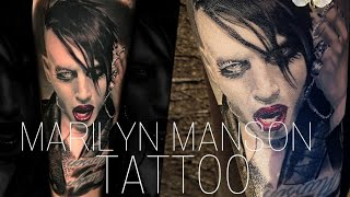 3rd MARILYN MANSON PORTRAIT TATTOO ????