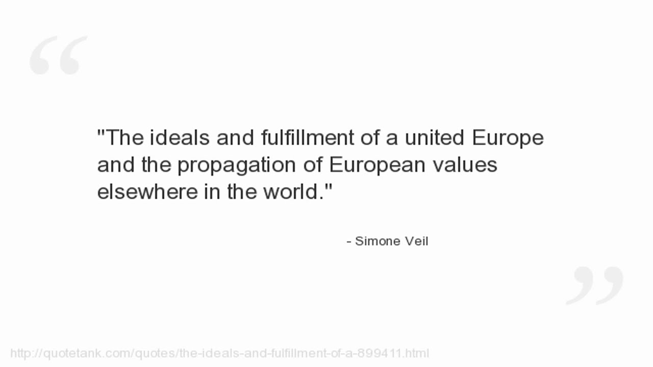 Fulfillment Quotes Simone Veil Quotes  Youtube