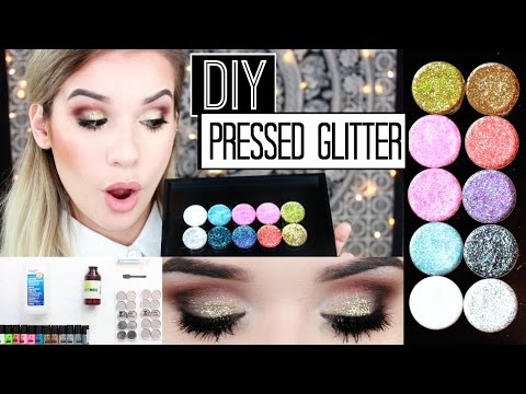 EASY DIY: Pressed Glitter Eyeshadow + Demo! | Glitter Injections DUPE