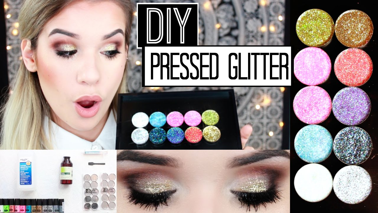 Easy Diy: Pressed Glitter Eyeshadow + Demo!  Glitter Injections Dupe
