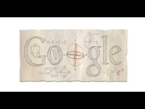 Leonhard Euler animated Google Doodle