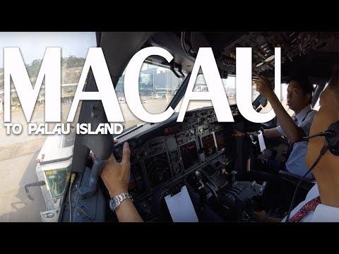 Cockpit View - Macau to Palau Island