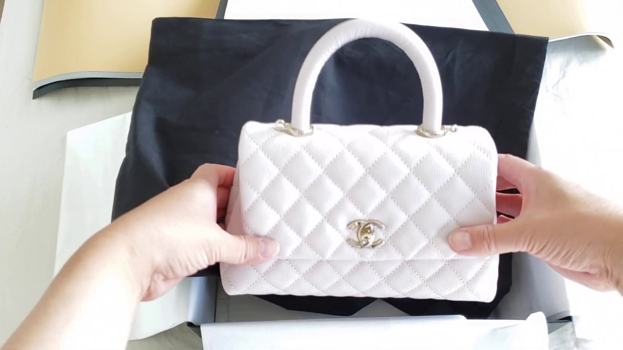 Chanel UNBOXING 20A Collections Coco Handle Mini in Lilac Caviar Leather #luxurypl38