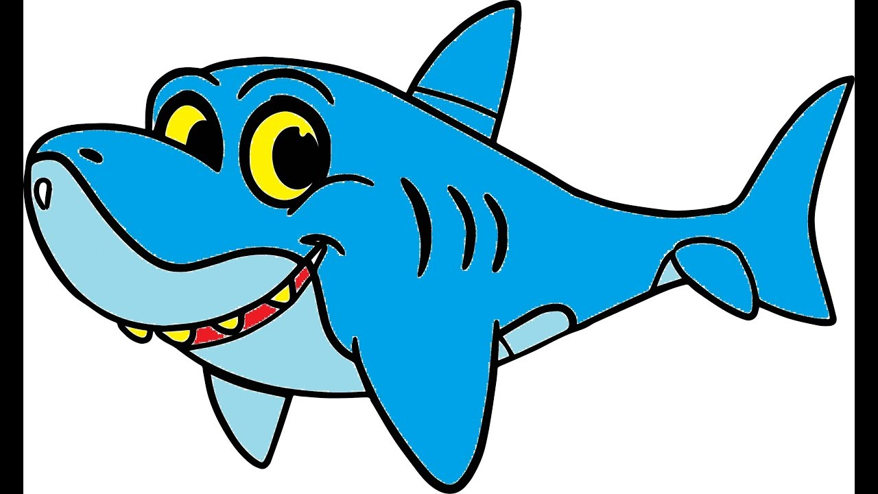 Kids Fun Colouring Page Learn how to colour Baby Shark