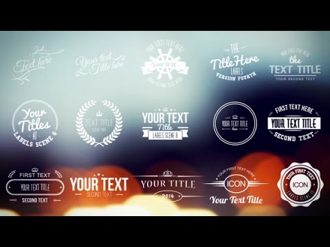 Vintage labels and titles after effects template youtube for After effects titles templates