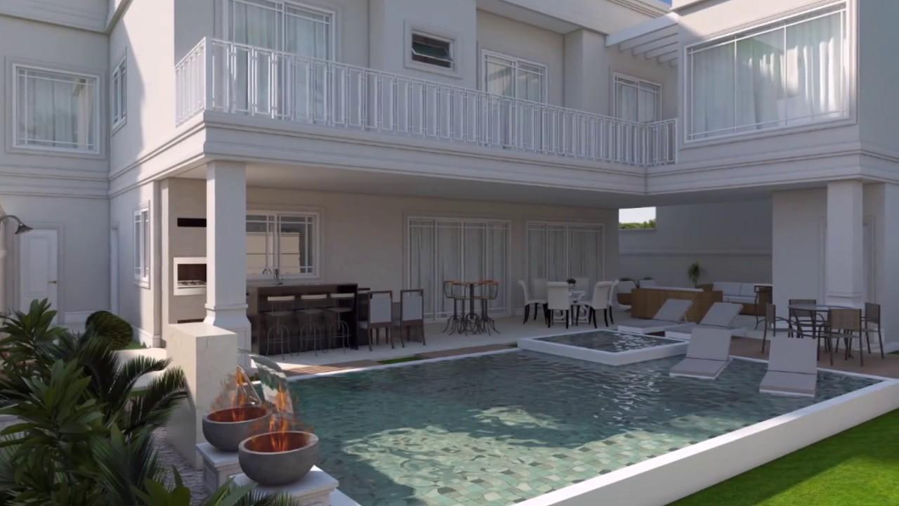 Projeto casa sobrado alto padrao luxuosa swiss park for Casa moderna classica