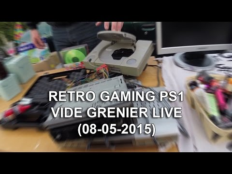 retro gaming PS1 - vide grenier live (08-05-2016)