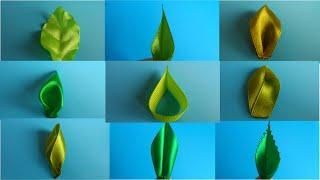 8 diferentes modelos de folhas de fitas com Kanzashi Alina Boloban