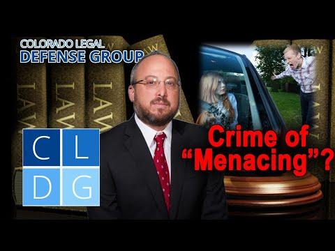 "Crime of ""menacing"" in Colorado"