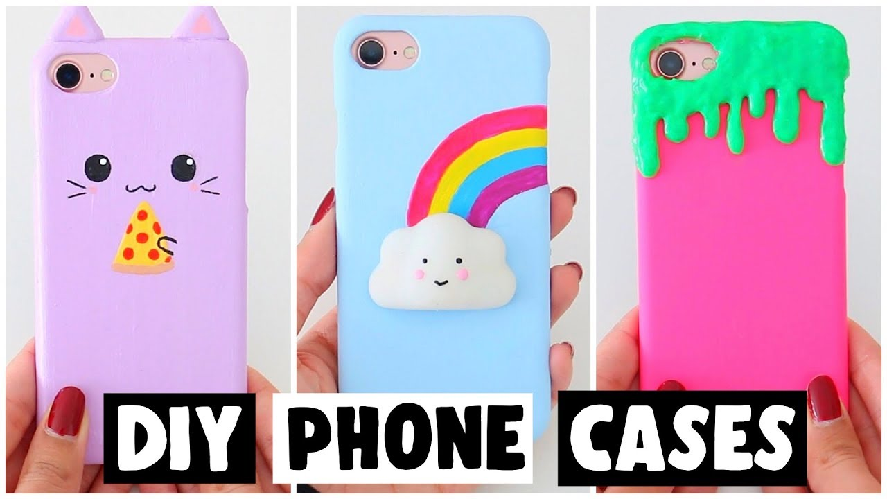 reputable site af177 2225a 7 AMAZING DIY PHONE CASES! VIRAL Slime & Squishy Inspired Ideas!