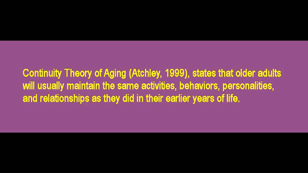 Comparing the activity and continuity theory of aging