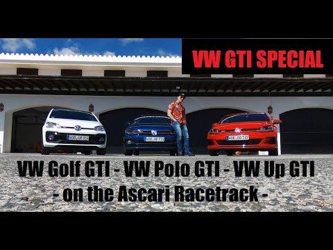 VW Polo GTI + GOLF GTI Performance + Up GTI - Racetrack Comparison