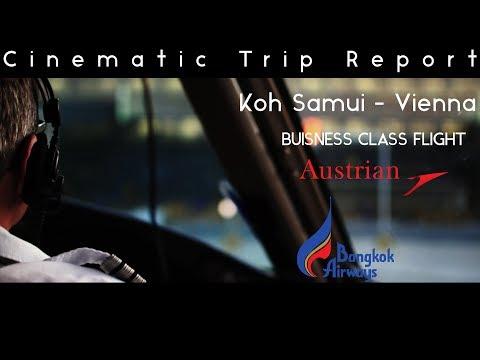 Koh Samui – Vienna BUSINESS CLASS FLIGHT | Austrian Airlines & Bangkok Airways