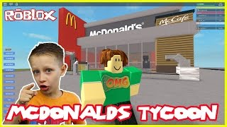 I'm building my own McDonalds | Roblox McDonalds Tycoon