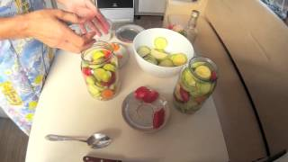 Маринованные кабачки на зиму. Не сложный рецепт заготовки на зиму маринованных кабачков