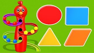 Level Shapes with Surprise Color Balls - Learning Videos