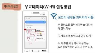 와이파이 설정과 앱 설치
