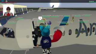 Takeoff| Roblox American Airlines Flight at Long Beach
